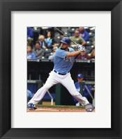 Framed Eric Hosmer Baseball Hitting Pose