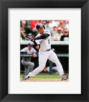 Framed Troy Tulowitzki Baseball Swing