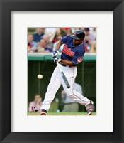 Framed Michael Bourn 2014 Batting Action