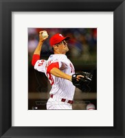 Framed Cole Hamels Baseball Pitching