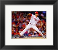 Framed Cole Hamels 2014 Action