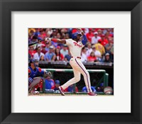 Framed Domonic Brown 2014 batting Action