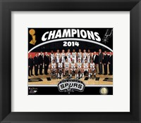 Framed San Antonio Spurs 2014 NBA Champions Team Photo