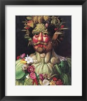Framed Holy Roman Emperor Rudolf II as Vertumnus