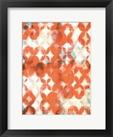 Overlapping Teal & Orange II Framed Print