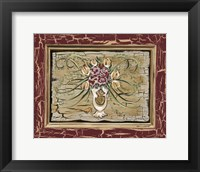 Framed Antique White Vase I