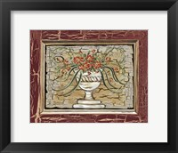 Framed Antique White Vase II