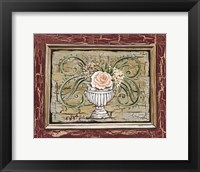 Framed Antique White Vase III
