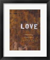 Love Never Fails I Framed Print