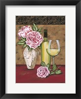 Framed Vintage Flowers & Wine II