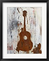 Framed Rust Guitar