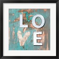 Framed Love Patina I