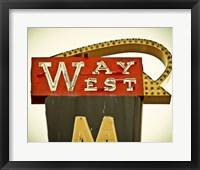 Framed Vintage Motel VII