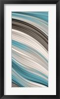 Aqua Sweep II Framed Print