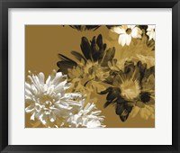 Framed Golden Bloom I
