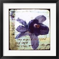 Framed Blooming Purple II