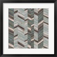 Stacked Chevron II Framed Print