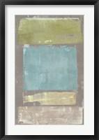Panelled Colors I Framed Print