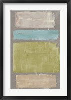 Panelled Colors II Framed Print