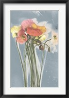 Poppy Spray III Framed Print