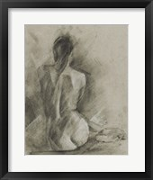 Charcoal Figure Study I Framed Print
