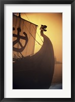 Framed ancient Viking Ship, Sweden