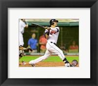 Framed Nick Swisher 2014 Batting Action