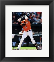Framed Manny Machado in action 2014