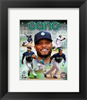 Framed Robinson Cano 2014 Portrait Plus