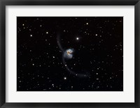 Framed Antennae (NGC 4038 and 4039), interacting pair of galaxies in Corvus
