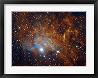 Framed Flaming Star Nebula in Auriga