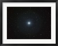 Framed bright white star Castor in the constellation Gemini
