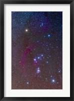 Framed Orion constellation