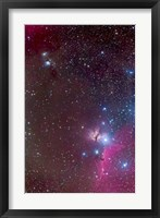 Framed Area around the Belt of Orion, with the Horsehead and Flame Nebula