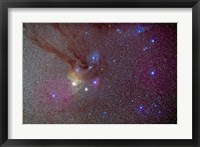 Framed Head of Scorpius with celestial deep sky objects