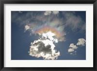 Framed Iridescent clouds, Alberta, Canada