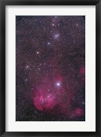 Framed NGC 3766 and the Lambda Cen Nebula in the constellation Centaurus