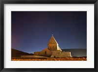 Framed Starry night sky above Saint Thaddeus Monastery, Iran