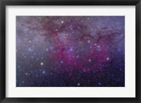 Framed extensive Gum Nebula area in the constellation Vela
