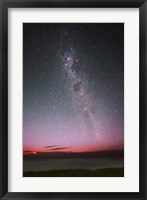 Framed Milky Way with an aurora, a meteor and lightning