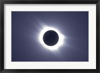 Framed Total solar eclipse