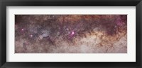 Framed Mosaic of the constellations Scorpius and Sagittarius in the southern Milky Way