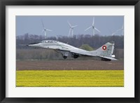 Framed Bulgarian Air Force MiG-29UB aircraft taking off