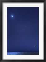 Framed Conjunction of the moon, Jupiter, Mars and Venus