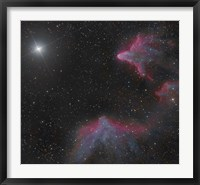 Framed IC 59 and IC 63 in Cassiopeia