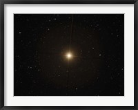 Framed red supergiant Betelgeuse