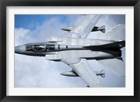 Framed Royal Air Force Tornado GR4 over North Wales