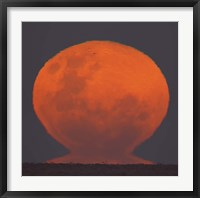 Framed Thunder's Moon rising over Rio de La Plata, Argentina