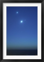 Framed Conjunction of Jupiter, Venus and Mercury