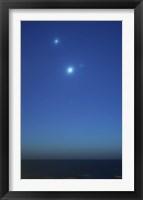 Framed Conjunction of Jupiter, Venus and Mercury